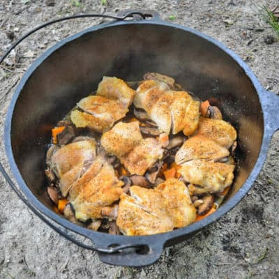 Dutch Oven Chicken and Vegetables Dinner