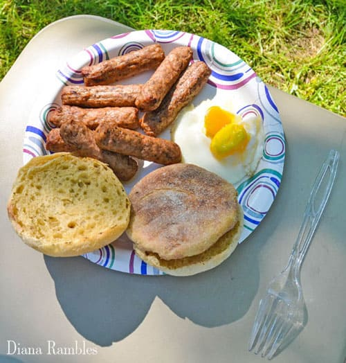 Campfire Egg Sausage Breakfast