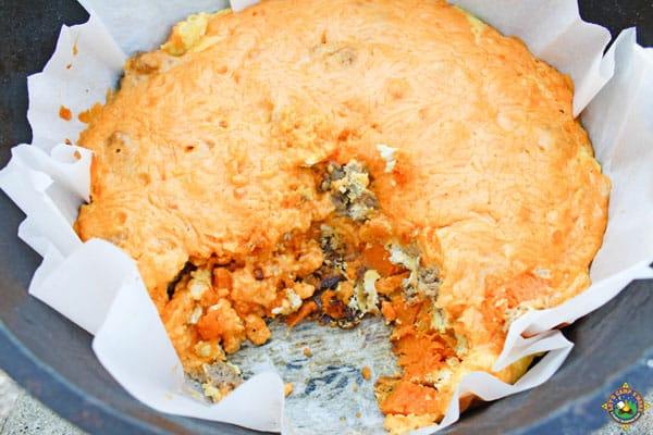 mountain man breakfast in a dutch oven