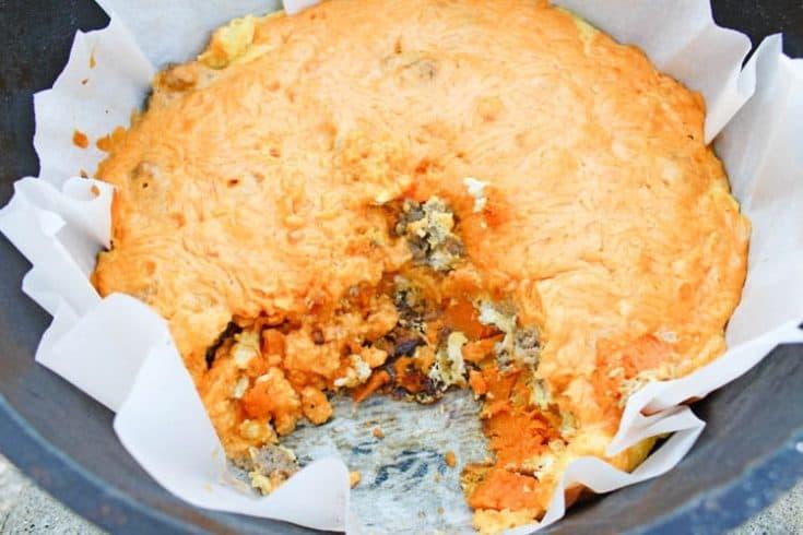 Mountain Man Breakfast in Dutch Oven