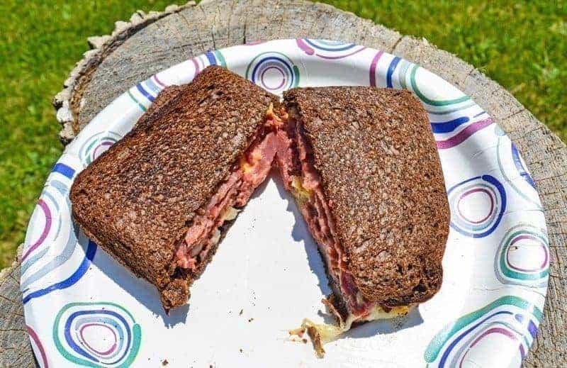 campfire reuben sandwich
