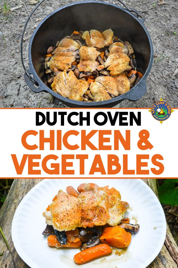 collage of Dutch Oven Chicken and Vegetables