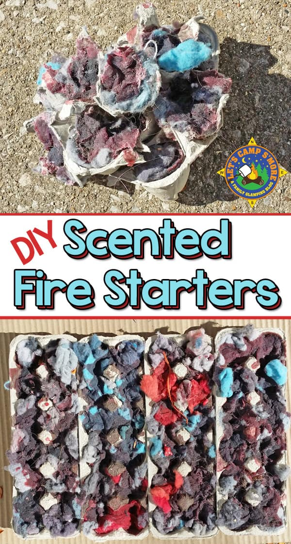 DIY Scented Fire Starters - Need help starting a fire? Make your own scented fire starter for the best campfire ever. This DIY project is fun and easy to do. #DIY #fire #camping