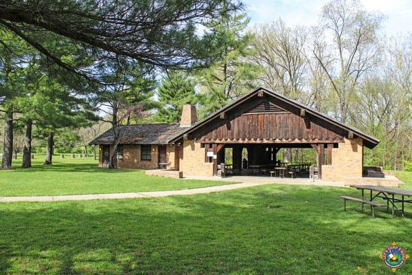 Kickapoo State Park Pavilion near Danville Illinois
