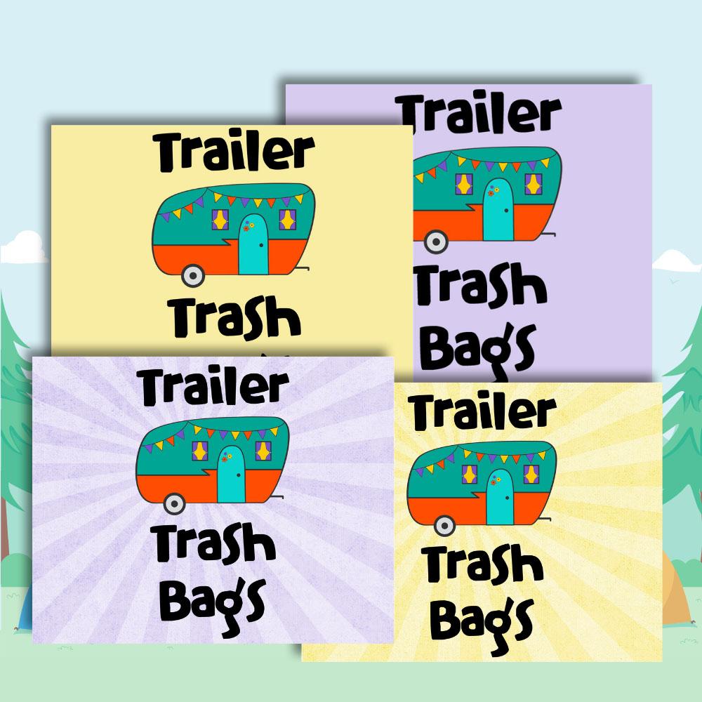 preview of the free trailer park trash bag printables