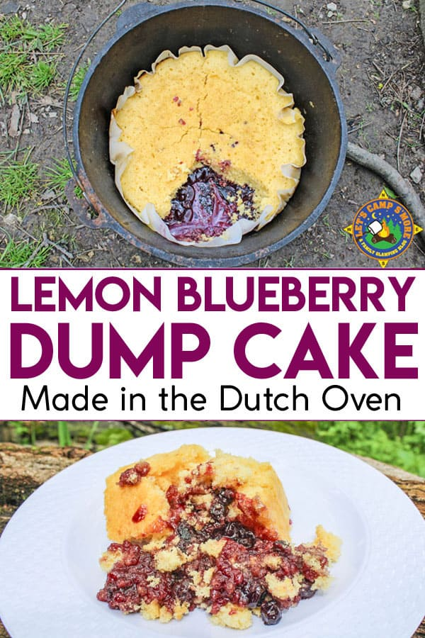 2 photos of Blueberry Lemon Dump Cake