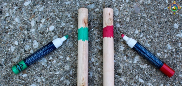 mark the handles with markers for wash and rinse