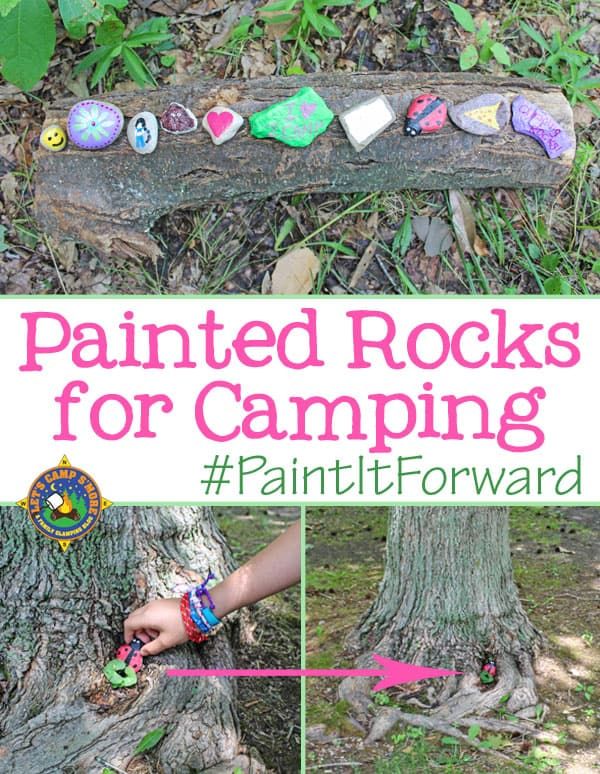 How to Paint Rocks for Camping - Looking for a fun family activity while camping? Create Painted Rocks to hide and seek out in nature. This is a great outdoor craft for the entire family. #paint #craft #camping