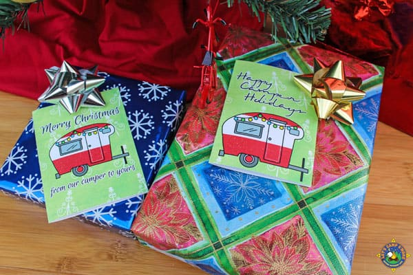 Camping Christmas Cards.Camping Christmas Cards Vintage Trailer Design Free Download