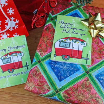 Camping Christmas Cards Free Download