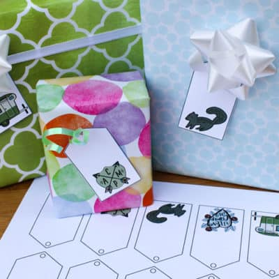 Camping Gift Tags Free Printable