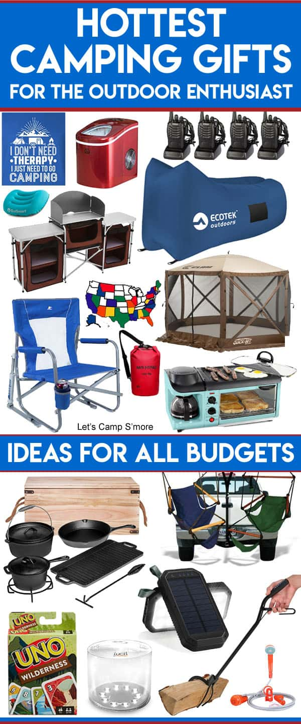 Unusual Camping Gifts for the Outdoor Enthusiast - Do you have a camper or outdoor enthusiast on your shopping list? Check this Unusual Camping Gifts List for this year's hottest gifts. There is stuff for camping, hiking, and other outdoor activites. There are gift ideas for campers in all budget ranges.