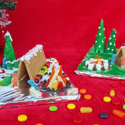 No Bake Gingerbread Campsite