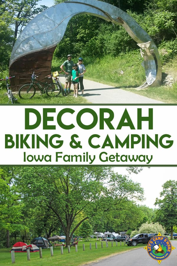 Decorah Camping & Biking: Midwest Family Getaway - Charming Decorah in NE Iowa is the perfect destination for camping, biking, kayaking, shopping and more. Stay at Pulpit Rock Campground, bike the Trout Run Trail, and visit the downtown area for unique shopping, food, and art. #VisitDecorah #ThisIsIowa #Camping #Biking #Decorah #Iowa