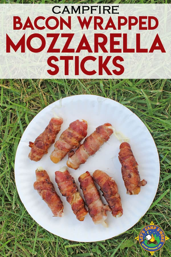 grilled bacon-wrapped mozzarella cheese sticks