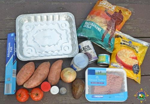 ingredients for grilled nachos