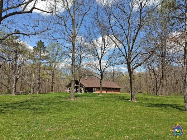 shelter that can be reserved at Fox Ridge State Park