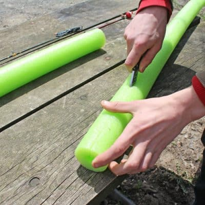 DIY Fishing Pole Cover
