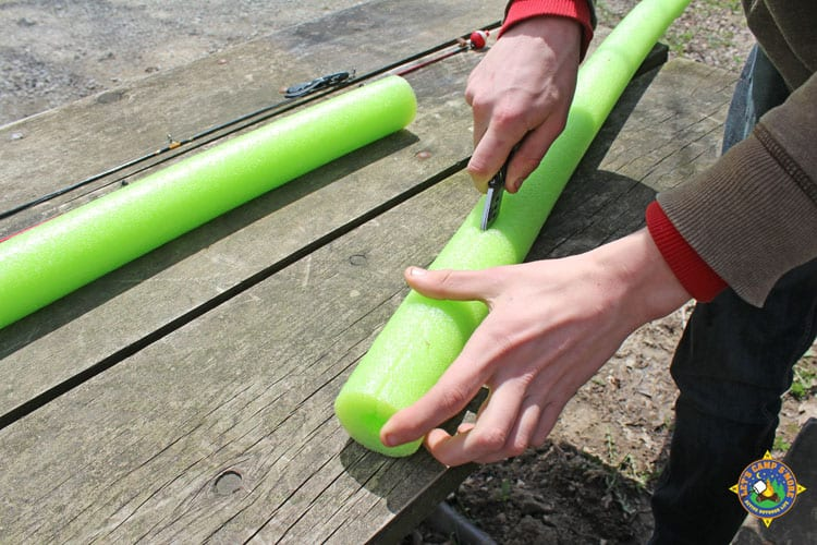 Diy Fishing Pole Cover Made From A Pool Noodle Tutorial