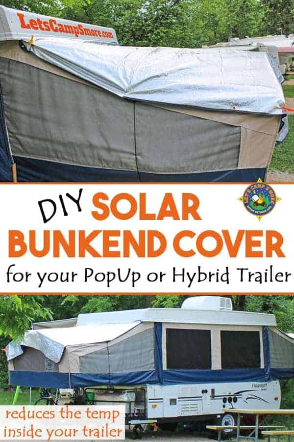 collage of DIY Solar Bunkend Covers  sc 1 st  Letu0027s C& Su0027more & DIY Solar Bunkend Covers for your PopUp or Hybrid Trailer