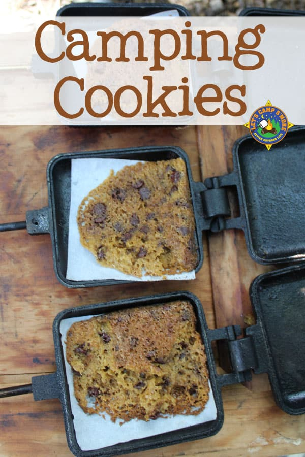 Campfire Cookies Made in a Pie Iron