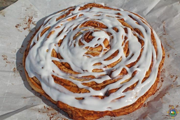Giant Cinnamon Roll Camping Recipe