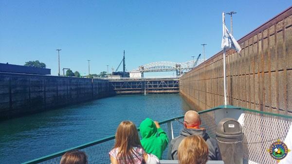 Boat through the Soo Locks