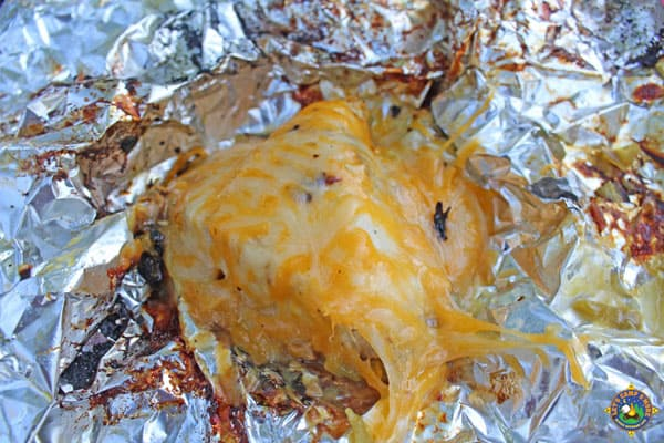 Green Chile Chicken foil packet