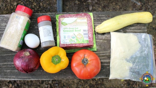 ingredients for Meatloaf Stuffed Vegetables