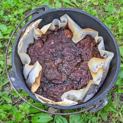 Dutch Oven Turtle Lava Cake