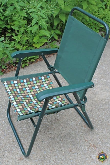 camping chair repaired