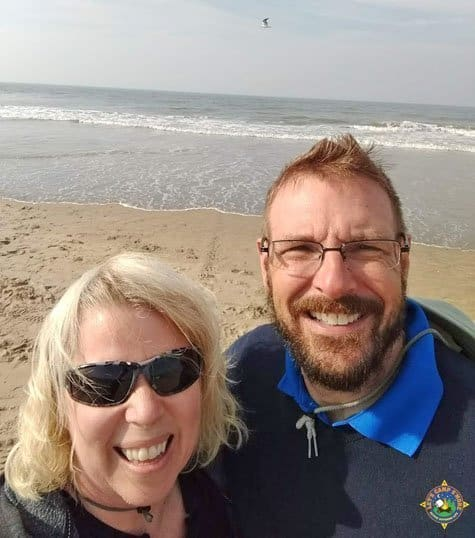 Happy couple at the North Sea in Holland