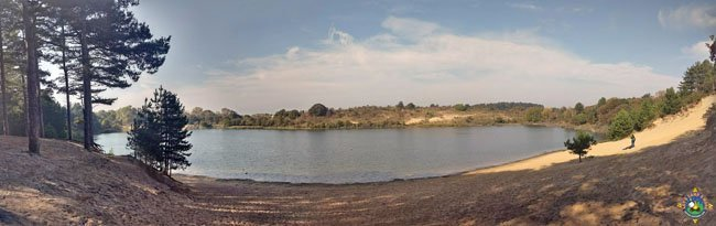 panorama of lake at Zuid Kennemerland National Park