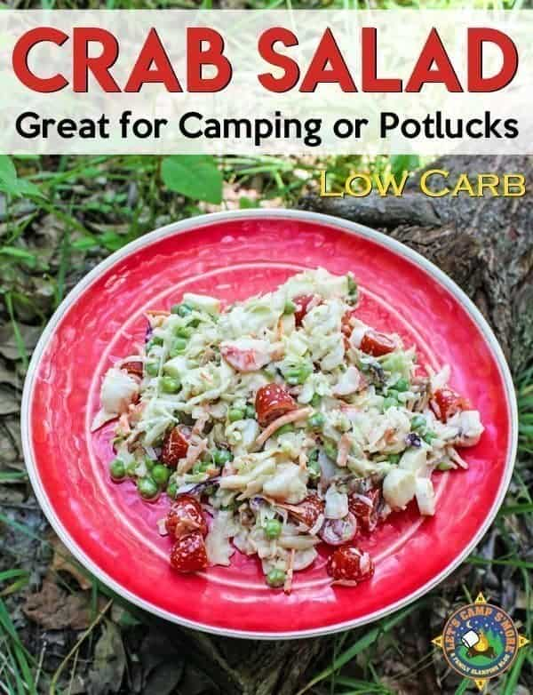 Low Carb Crab Salad Recipe - Want a hearty salad for a meal? Cool off with this easy crab salad recipe. It is the perfect keto or low carb recipe to make while camping or to take to a potluck. Check out the fun unique ingredient!