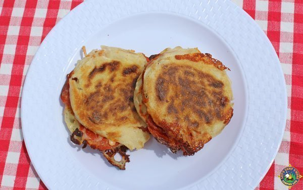 campfire pizza sandwiches