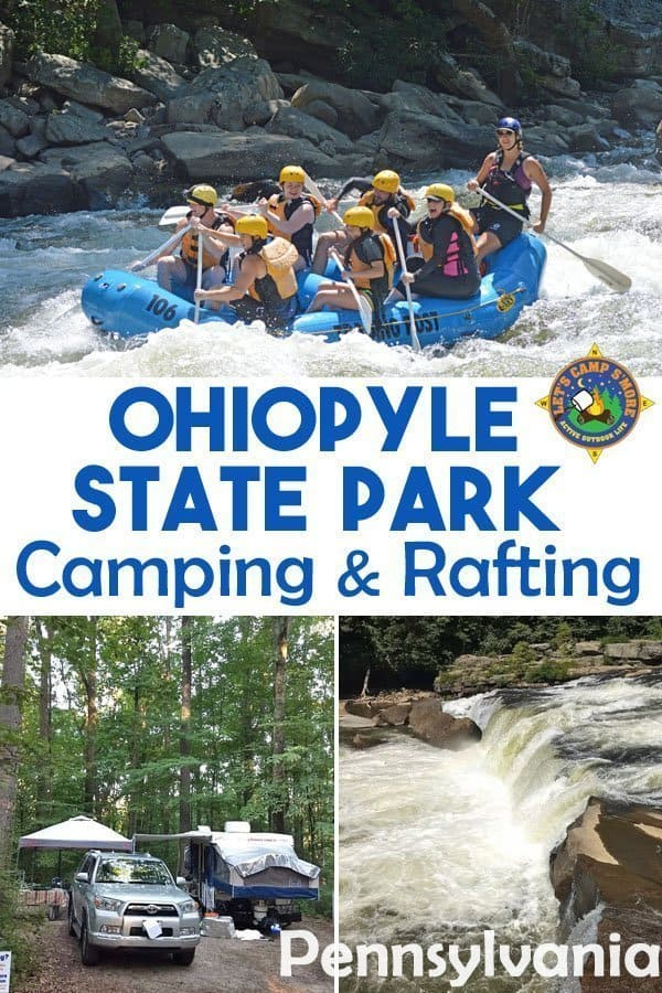 Ohiopyle State Park, PA - Enjoy Ohiopyle State Park Camping south of Pittsburgh in Pennsylvania. This popular recreation area offers whitewater rafting, hiking, and biking.