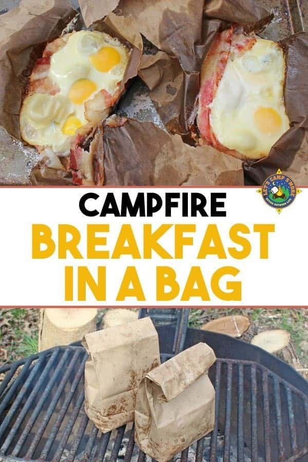 Campfire Breakfast in a Bag Recipe - Looking for a great camping breakfast? Try this Breakfast in a Bag that is made over the campfire. This simple recipe is fun and easy to make!