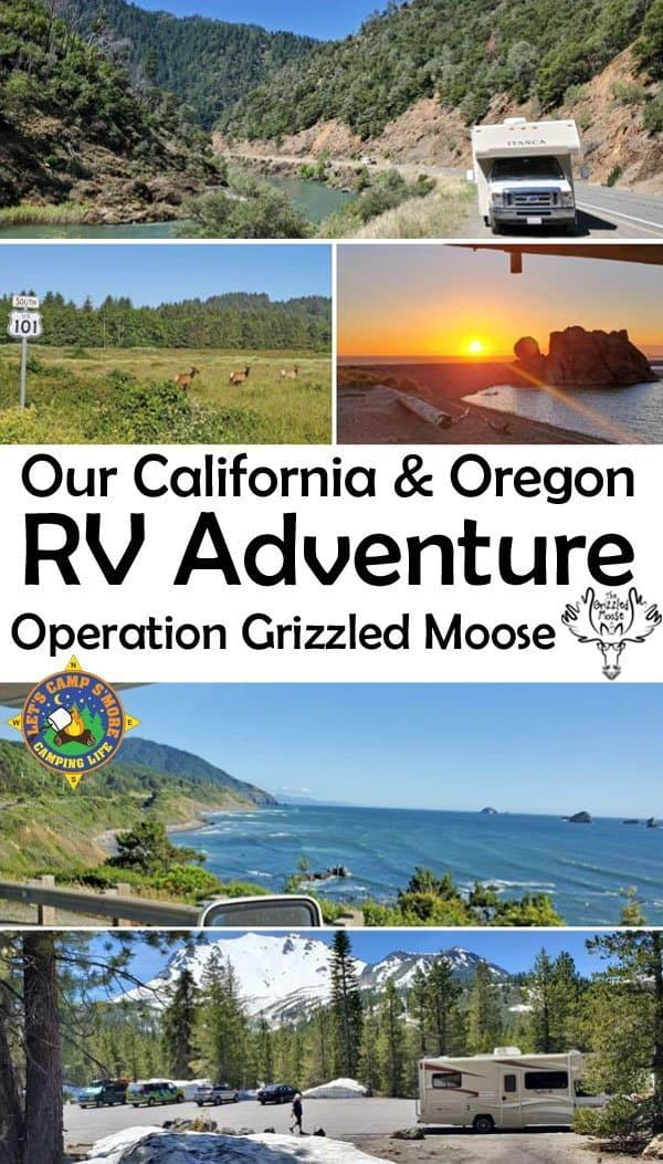Our Go RVing Adventure in California & Oregon - Read all about our West Coast RV Adventure in a rental motorhome. The trip was called Operation Grizzled Moose for because it was a surprise 50th birthday trip for Eric.