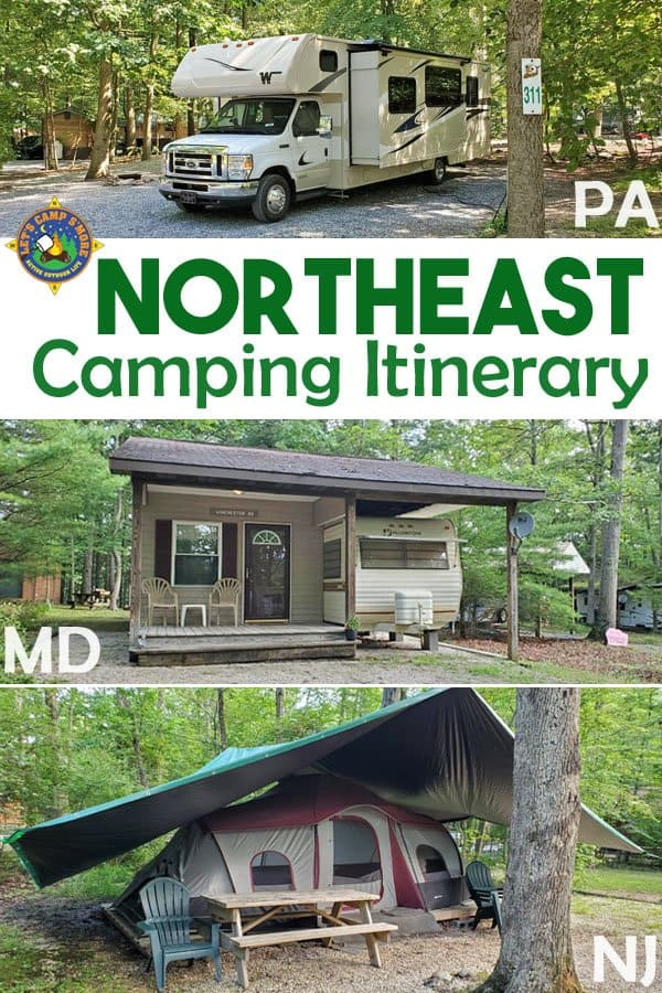 Northeast USA Camping Itinerary - Want to camp in Maryland, New Jersey, or Pennsylvania? Follow this Northeast Camping Trip Itinerary and enjoy great campgrounds, food, and activities!