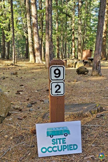 Campervan Site Occupied Free Camping Printable