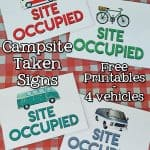 Free Site Occupied Camping Printables - Need to leave your campsite unattended? Download and display a Free Site Occupied Camping Printable let others know your campsite is taken.