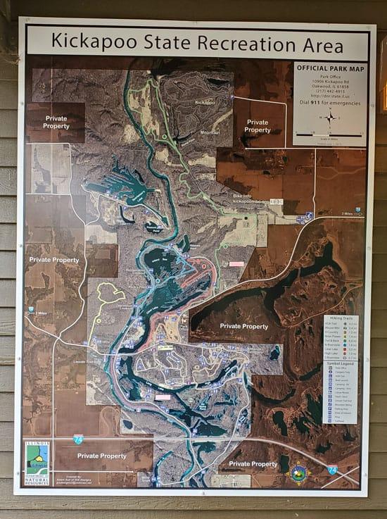 Kickapoo State Recreation Area Aerial Map