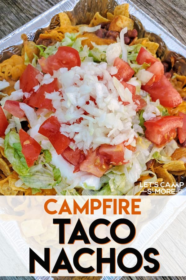 Walking Taco Nachos Made on the Campfire or Grill - These taco nachos are made over the campfire or on the grill. They are a fun spin on classic Walking Tacos, but are even easier to make!