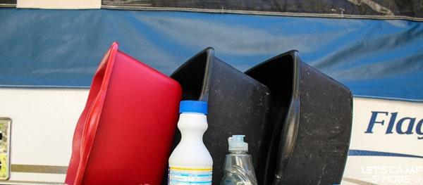 camping dish washing supplies