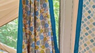 curtains in a pop up camper