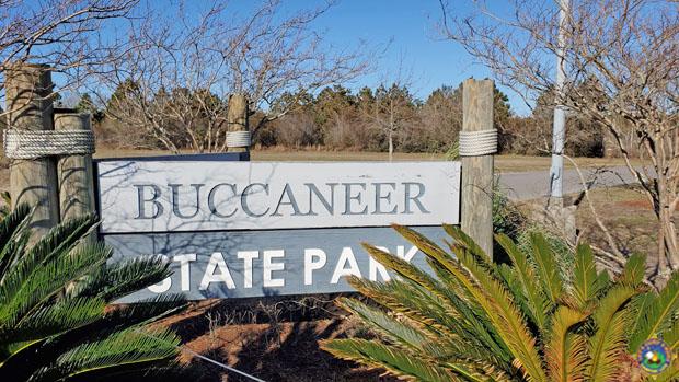 Buccaneer State Park sign