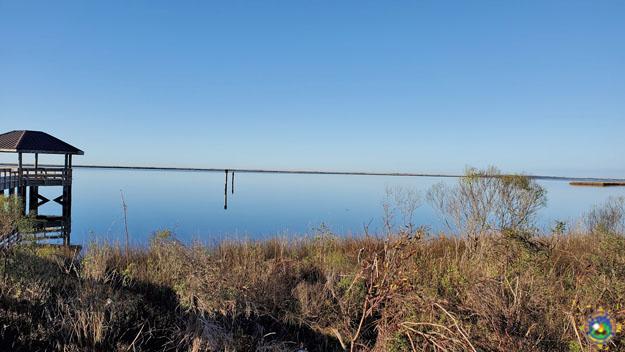 view of the bay at Davis Bayou National Seashore