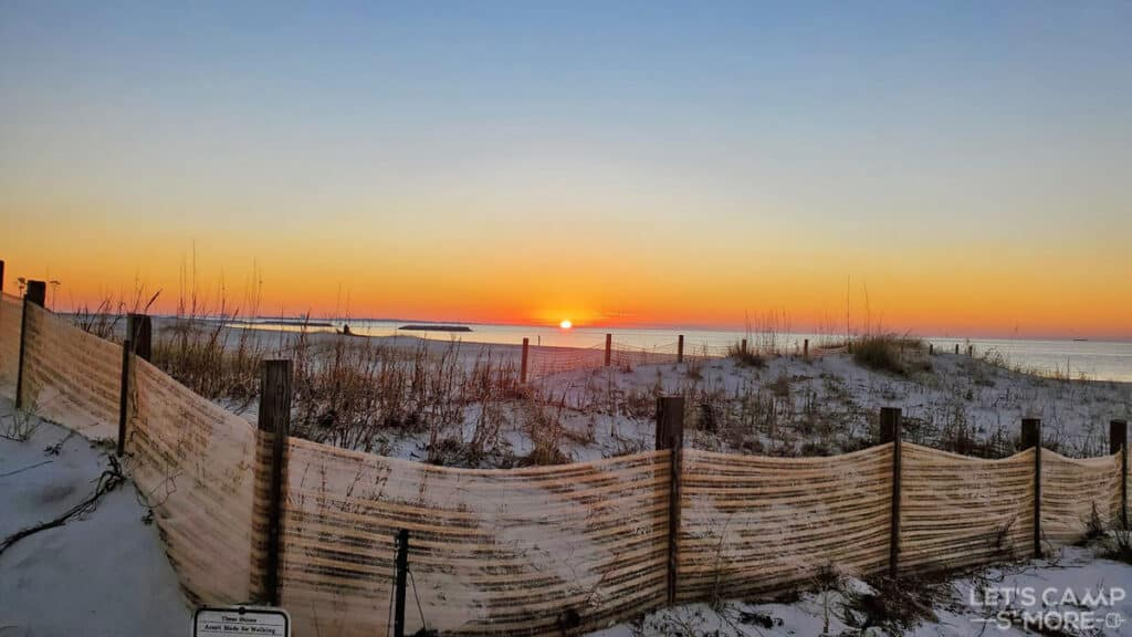 sunrise at Dauphin Island
