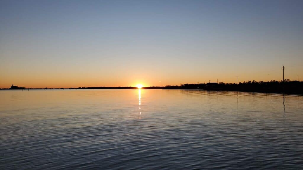 Sunset from Buccaneer State Park