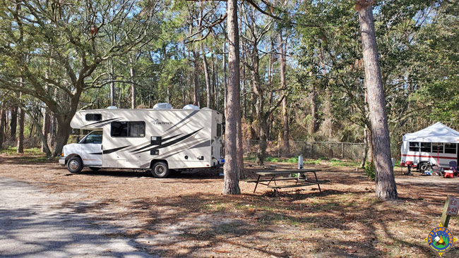 Dauphin Island Camping next to the Audobon Bird Sanctuary
